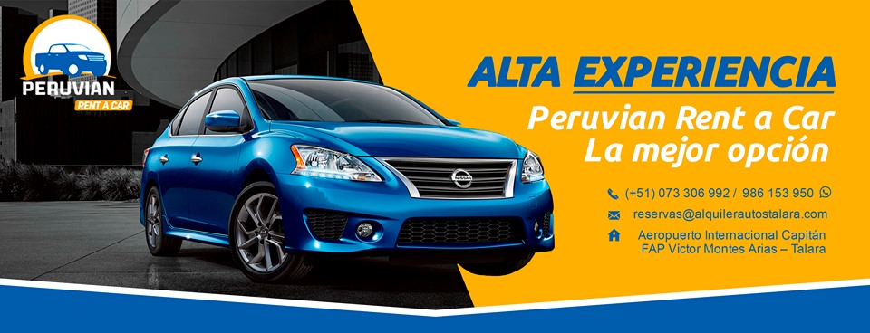 Alquiler vehiculos Talara Piura Perú