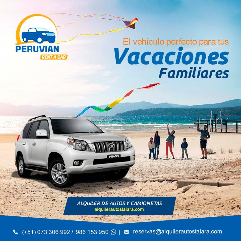 Alquiler carro para viajes Perú